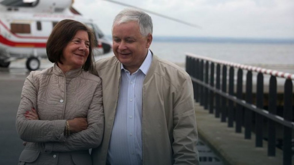 Pani Maria i Lech Kaczynscy